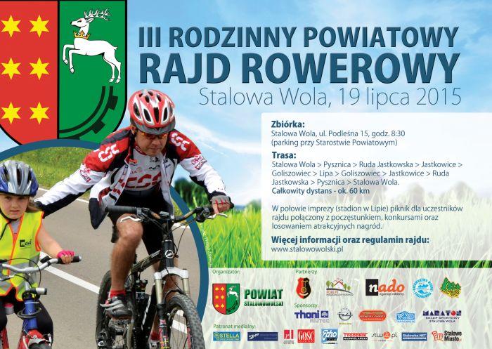 Zapraszamy do udziału w III Rodzinnym Powiatowym Rajdzie Rowerowym