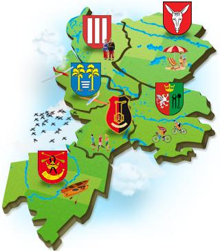 Mapa Powiatu Stalowowolskiego