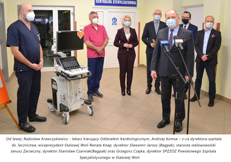 Bagpak wraz z załogą ufundowali sprzęt dla szpitala