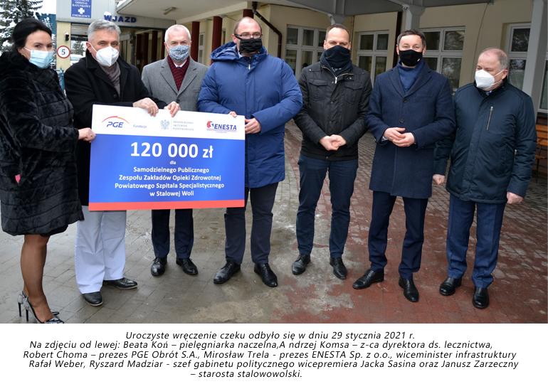 PGE i Enesta wsparły stalowowolski szpital