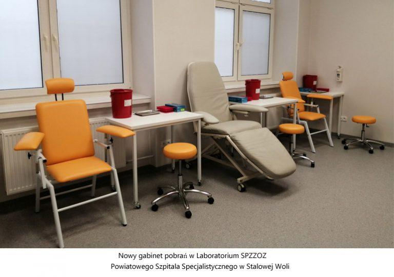 Nowy gabinet pobrań w szpitalnym Laboratorium