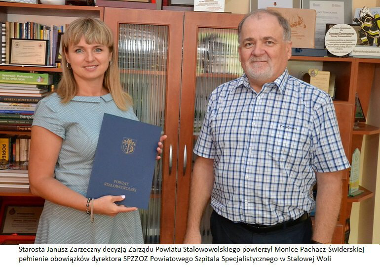 Monika Pachacz-Świderska pokieruje szpitalem w Stalowej Woli