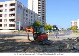 Uwaga! Od 28 września skrzyżowanie ulic Popiełuszki i Okulickiego będzie zamknięte