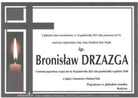 Żegnamy Bronisława Drzazgę